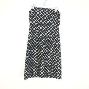 J. Crew Women's Plaid Strapless Silk Dress BSK